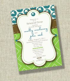 imagine this bridal shower invitation in pink, orange and brown!