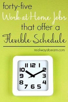 Do you need a work at home job that lets you work whenever you want? Here's a list of 45 companies that regularly offer work from home jobs with no set schedule.