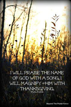 Praise God! http://bec4-beyondthepicketfence.blogspot.com/2014/11/sunday-verses.html