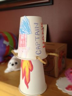 Jumping Rocket Cups... fun end of year craft for my students and parents :)