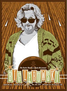 """The Big Lebowski The Dude Bowling Fabric Posters 12/"""" x 18/"""" Art Banner Art Flag"""
