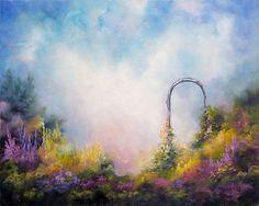 Heavens Gate Spiritual Art Landscape Floral by  MarinaPetroFineArt  https://www.etsy.com/listing/247855233/heavens-gate-spiritual-art-landscape?ref=shop_home_active_24