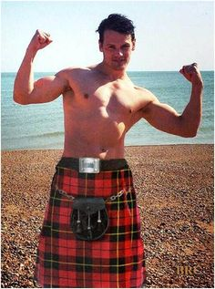 Sam Heughan in a kilt...what else is there to say?!