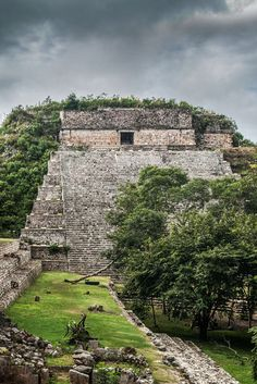 'The Great Pyramid in Uxmal an ancient Mayan city in the Yucatan Peninsula, Mexico founded around the 7th century A.D. and was home to some 25,000 Maya people.