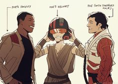 feredir: it suits you. --- Finn, Rey and Poe