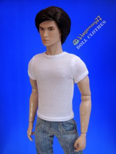 """Ken Fashion Royalty Homme Taeyang doll size by DollClothesStore, $14.00.   Another idea for Veer's """"Aisa des hai mera"""" undershirt"""