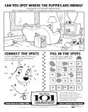 101 Dalmatians Word Search, Games and Printable Masks