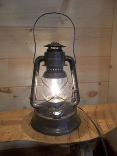electric vintage lantern table lamp | ... lamp old furniture ...