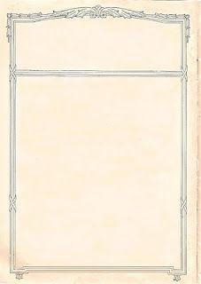 Free Printable Vintage paper - would be great for menus or weddings