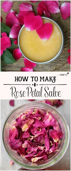 This rose petal salve recipe is made with real rose petals plus rosehip seed oil for amazing benefits when applied to mature, sun-damaged & dry skin.