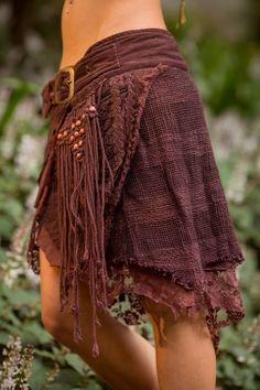 Jungle Skirt with Pockets (Purpley/Brown) - Festival Clothing Gypsy Festival Goa Bohemian Fairy Hippie Boho Wrap with Belt and Pockets - Boho Hippie, Bohemian Skirt, Bohemian Mode, Boho Gypsy, Boho Dress, Bohemian Style, Boho Chic, Gypsy Skirt, Goa
