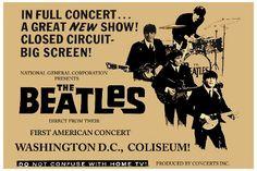 The Beatles Washington DC Concert Poster 1964
