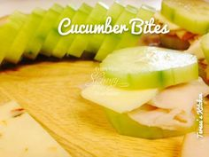 Need a quick snack or a light lunch. These are light and tasty!   Cucumber Bites  ★¨`*•♫.•Pass it on!! Give someone else a reason to smile. ♫ ..•* ★   Ingredients: 1 cucumber, peeled and sliced Turkey deli meat thinly sliced 1 slice of Pepper Jack Cheese Mustard (optional) Directions: You'll only need 1 slice of turkey and 1 slice of cheese to make 4 bites. Assemble the mini sandwich and add a dot of mustard. That's it! I like to keep sliced cucumbers in the fridge in a zip-loc bag to have…
