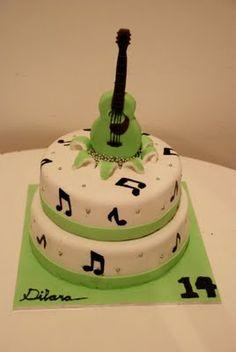 Ideas for music guitar cake Music Themed Cakes, Music Cakes, Themed Birthday Cakes, Cupcakes, Cupcake Cakes, Violin Cake, Bolo Musical, Deco Cupcake, Piano Cakes