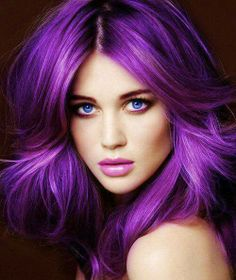 Purple hair freaking LOVE this!!!