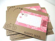 Set of 6 envelopes  A1 envelopes snailmail by ArasPaperCreations, $3.50