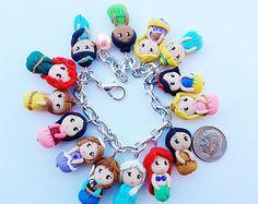 frozen jewelry charm bracelet with elsa anna sven by crystalnruby