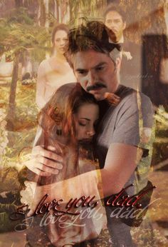 "Twilight Saga ~ Bella and Charlie. I love this picture of them from ""Twilight"" to ""Breaking Dawn""."
