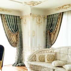 Living room curtains styles lounges Ideas Source by atefsameeh Luxury Curtains, Home Curtains, Curtains Living, Curtains With Blinds, Window Curtains, Valance, Classic Curtains, Elegant Curtains, Curtain Styles