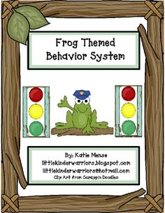 Use this stoplight system to manage behavior in your Frog themed classroom!! Pond patrol, (A froggy policeman) will be watching over your classroom...