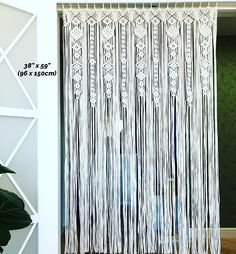 Large Macrame Curtain Macrame Wedding Arch Macrame Alter