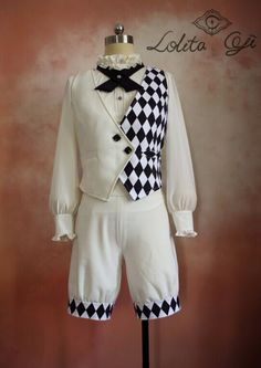 Prince: White and black Harajuku Fashion, Japan Fashion, Lolita Fashion, Japanese Street Fashion, Kawaii Clothes, Cosplay Outfits, Character Outfits, Lolita Dress, Mode Style