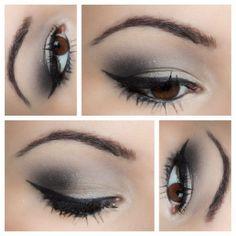Grey Smokey Eye Makeup