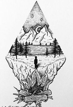 This would be close to perfect with some roots, a woman, flowers and color Body Art Tattoos, Tattoo Drawings, Small Tattoos, Sleeve Tattoos, Art Drawings, Natur Tattoos, Tattoo Convention, Forest Tattoos, Tattoo Zeichnungen