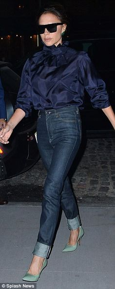 Victoria and David Beckham step out for date night in NYC