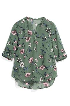 Very cute floral prints and the mint green background is pretty Mint Shirt, Stitch Fix App, Casual Outfits, Fashion Outfits, Casual Clothes, Crochet Shirt, Stitch Fix Outfits, Cut Shirts, Summer Wardrobe