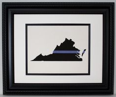 """POLICE Gift on Linen- Thin Blue Line across ANY US State, State Police, Law Enforcement, Deputy, State Trooper - Home Decor on Linen. PRINT ONLY - frame is not included. We make these easy to frame. They are made to fit in a frame that is matted to 8""""x10"""". Linen color is Ivory. POLICE Thin Blue Line across ANY US State, State Police, Law Enforcement, Deputy, State Trooper - Home Decor on Linen Made by a Police Officer for Officers. Thank You for your service!!..."""