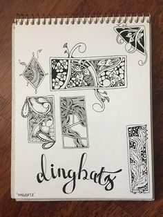 Dingbatz Zentangle by Stephanie Jennifer