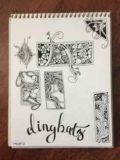 Dingbatz Zentangle by Stephanie Jennifer