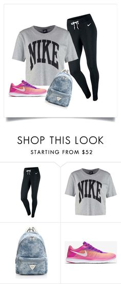 A fashion look from June 2016 featuring nike tee, nike activewear and nike footwear. Browse and shop related looks. Shoe Bag, Nike, Polyvore, Stuff To Buy, How To Wear, Shopping, Shoes, Collection, Design
