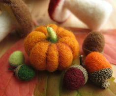 Filzkurs Herbstdekoration - Helena Hermann, Needle Felted Autumn Decoration