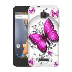 Coolpad Catalyst Highlighted Butterfly Pink on White Slim Case