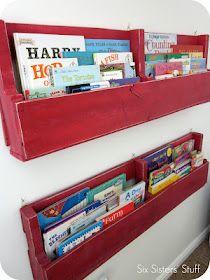 Pallet bookshelf tutorial Laurels nursery