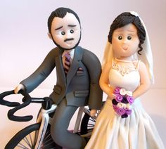 Handmade Polymer Clay Wedding Cake Topper by DesignsByDenisa