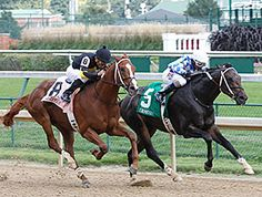 Lucky Player outfought stablemate Bold Conquest through the Churchill Downs stretch to win the $115,500 Iroquois Stakes (gr. III) and give trainer Steve Asmussen the winning exacta Sept. 6. Lucky Player now has 10 points towards earning a start in the 2015 Kentucky Derby.