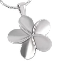 Stainless Steel Flower Cremation Necklace by ForeverMomentsDesign