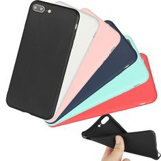 Coque For iPhone 7 Plus Cases Silicon Cover Soft TPU Shell Capinha For Apple 7 Cell Phone Case Rubber Candy Color New Fashion