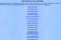WOW - Happy Birthday sheet music arranged in various styles!