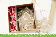 Lawn Fawn sweet christmas gift tags by Elena Roussakis.