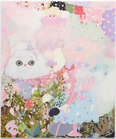 Tomoko Nagai, I Hung out the the Spring, 2012, oil, glitter on canvas