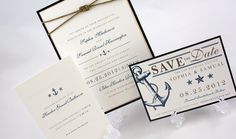 Wedding Invitation  Nautical & Ocean by JacquelineAnnInvites, $6.25