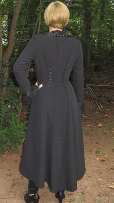 Back view of finished coat. Simplicity 2172. 2012