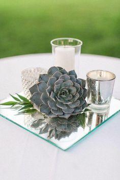 vintage mirror wedding centerpiece idea / http://www.himisspuff.com/mirror-wedding-ideas/4/