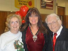 Fred and Carolyn Eichelman with Caroline Munro