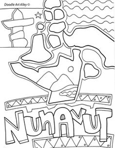 Canada Coloring Pages and Printables - Classroom Doodles Canada For Kids, Calendar Worksheets, School Age Activities, Canadian Culture, School Tool, Science, Colouring Pages, School Projects, Teaching Kids
