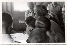 Erwin Rommel discussing strategy with Italian axis Afrika Corps, North African Campaign, Erwin Rommel, Field Marshal, Inner Circle, World War, Wwii, Military, History